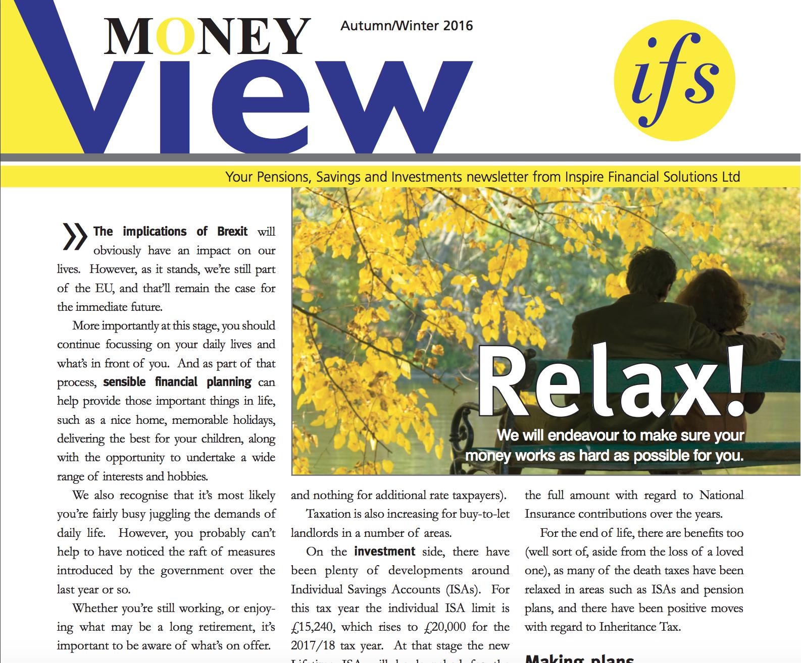 Money View – Autumn Winter 2016